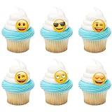 Emoji Emoticon Moods Cupcake Topper Rings