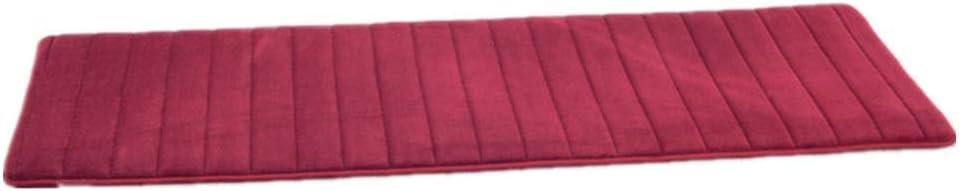 Rouge Bordeaux, 40 x 60 cm LiGG Tapis de Salle de Bains Tapis de Bain antid/érapant en Mousse /à m/émoire de Forme pour Salle de Bain Microfibre
