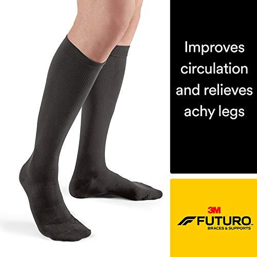 62e93aca68e6 Futuro Restoring Dress Socks for Men, Helps Relieve Symptoms of Mild Spider  Veins, Firm Compression, Over the Calf, Medium, Black - Buy Online in Oman.