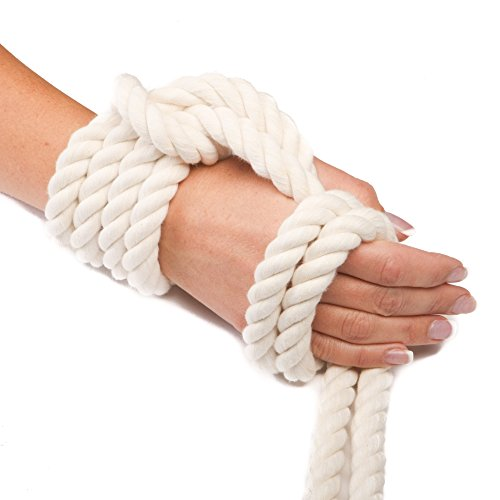 Ravenox Colorful Twisted Cotton Rope   (White)(1 Inch x 250 Feet)   Made in The USA   Custom Color Cordage for Sports, Décor, Pet Toys, Crafts, Macramé & General Use   Rope by The Foot & Diameter by Ravenox (Image #5)