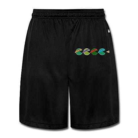 Logon 8 Men's Pac-Turtles Soft Basic Performance Shorts Sweatpants Black XXL (Lightning Returns Guide Book)