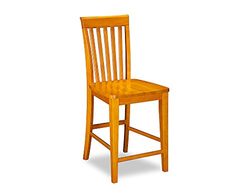 Mission Pub Chairs Set of 2, Caramel Latte