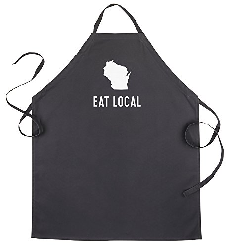 (About Face Designs State of Mine-Wisconsin Apron Black)