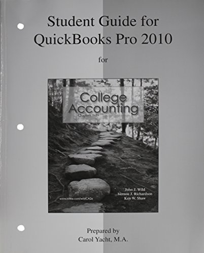 Download MP: Student Guide for QuickBooks Pro 2010 with Edu Ver