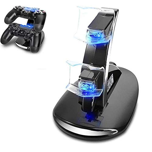 GYORGKSHI PS4 Controller Charger,Playstation 4 / PS4 / PS4 Pro / PS4 Slim Controller Charger Charging Docking Station Stand for PS4 Controller