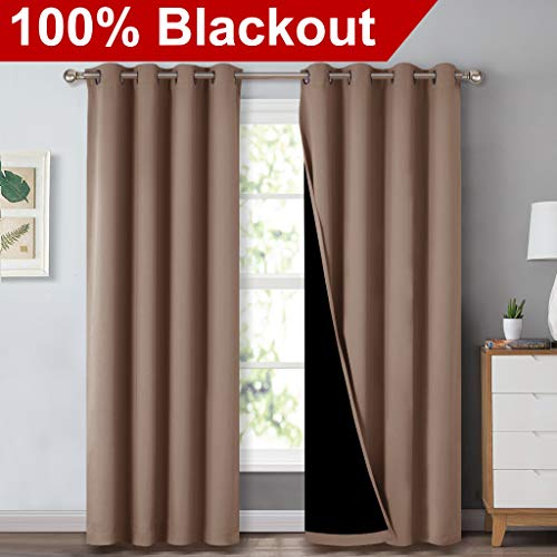 NICETOWN 100% Blackout Curtains Thermal, Noise Reduction and