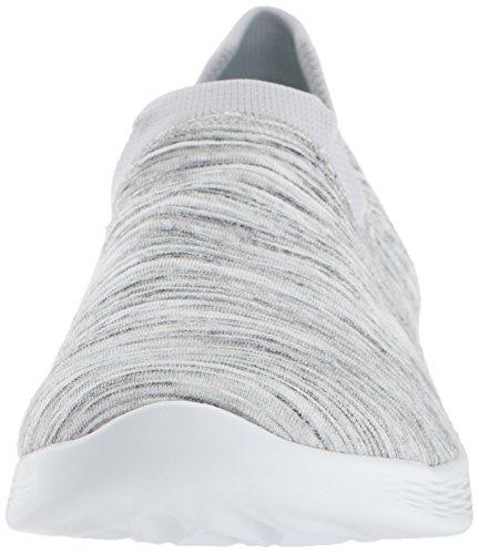 Skechers Vous Des Femmes De Baskets Zen Blanc / Gris