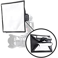 Movo MP-LB7 9x12 Speedlight Fabric Flash Softbox Diffuser with Roll-Up Windows for Fill Light/Bounce Control - Universal Design Fits Most Flashes