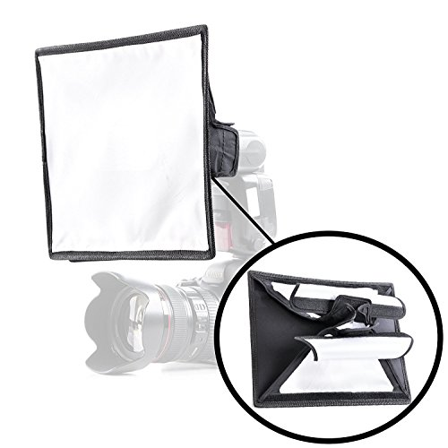 Movo MP-LB7 9x12' Speedlight Fabric Flash Softbox Diffuser with Roll-Up Windows for Fill Light/Bounce Control - Universal Design Fits Most Flashes