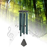 Large Wind Chimes Outdoor,36''Sympathy Wind Chimes Amazing Grace With 6 Metal Tubes Tuned Deep Tone,Memorial Wind Chimes for Garden Patio Yard Housewarming Hanging Decor,Forest Green