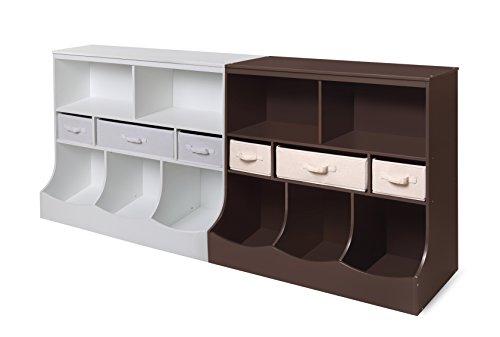 Badger Basket Combo Bin Storage Unit with Three Baskets, Espresso by Badger Basket (Image #5)