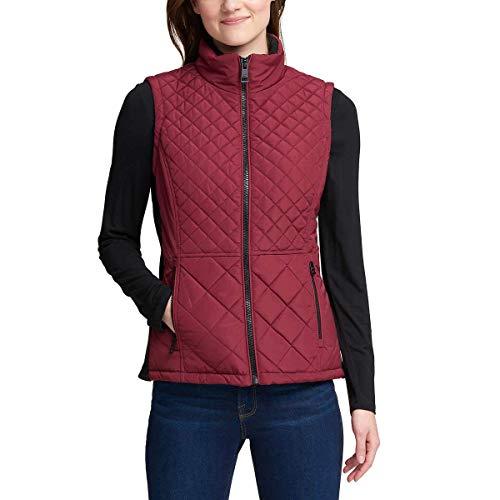 Womens Ladies Vest - Andrew Marc Ladies' Quilted Vest (XL, Red)