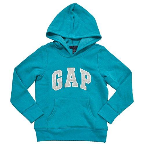 gap-girls-fleece-arch-logo-pullover-hoodie-xs-teal