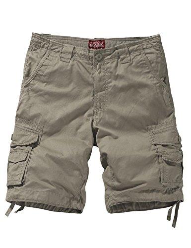 (Match Men's Twill Comfort Cargo Short Without Belt #S3612 (Label Size 3XL/38 (US 36), Apricot))