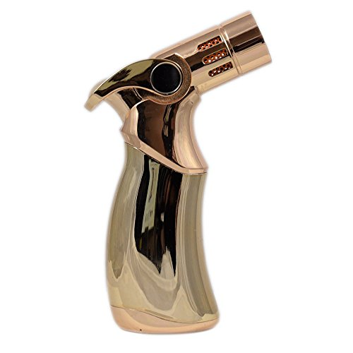 [해외]제트 직선 불꽃 시가 라이터 부탄 스프레이 건 4 불꽃 시가 시가트 제트 라이터 Torch-GOLD (GUOLONG)/Jet straight flame cigar lighter Butane Spray Gun 4 Fla