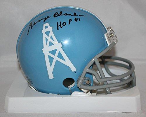 George Blanda Signed Mini Helmet - TB Blue W HOF W Auth - JSA Certified - Autographed NFL Mini Helmets ()