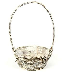 rinden Macetero cesta redonda con asa motivos marítimos en Largo stonewashed con pantalla