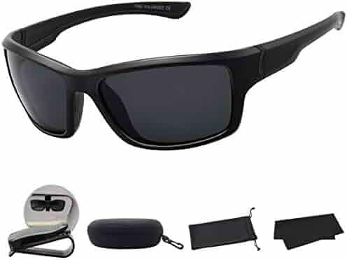 63498ff838 MAXJULI Polarized Sports Sunglasses for Men Women for Running Fishing  Driving MJ8014