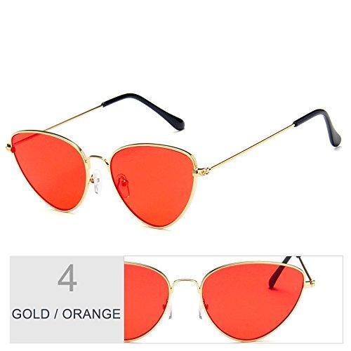 ORANGE Vintage UV400 Sunglasses sol TL de GOLD hombres metal de oro de Gato mujeres Ojo gafas de mujeres con gris marco para gafas 5Bdd0wq
