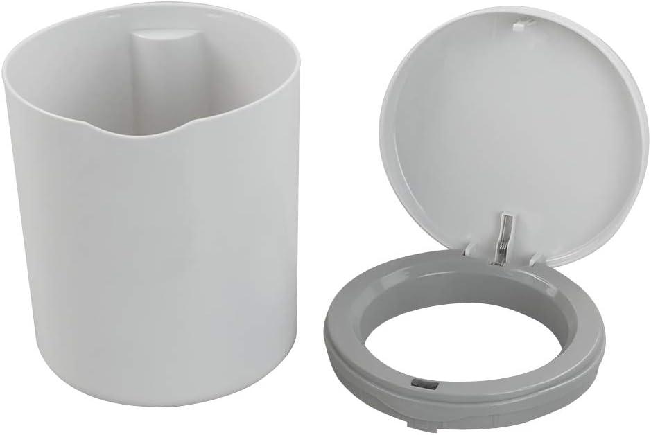 Pattumiera da Bagno Cestino da Scrivania di Plastica Grigio Yarebest Mini 2 Litri Bidone della Spazzatura da Tavolo con Coperchio A Pressione