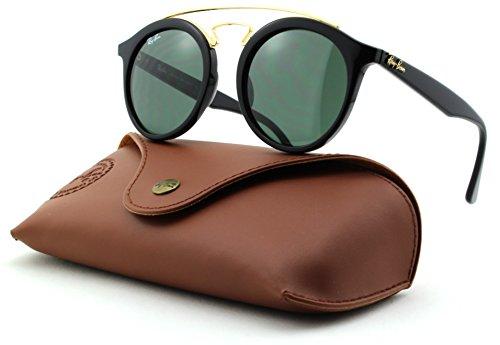 Ray-Ban RB4256 GATSBY Woman Round Sunglasses (Black Frame/Dark Green Lens 601/71, - Gatsby Rayban