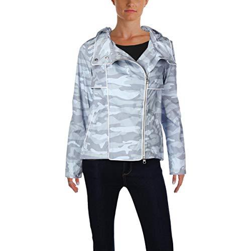 Calvin Klein Women's Performance Spectator Printed Asymmetrical-Zip Hooded Jacket