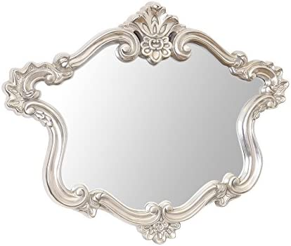 Select Mirrors Amba Large Ornate Wall Mirror Antique Silver 102cm X 84cm Amazon Co Uk Kitchen Home
