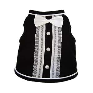 I See Spot's Dog Pet Cotton T-Shirt Tank, Tuxedo, XX-Small, Black