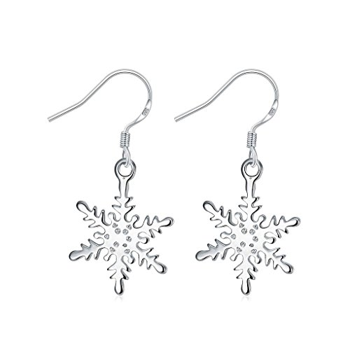 fonk: silver plated earing silver plated Snow Flower earting For Women SMTE302