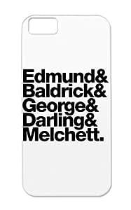 Black TPU Tv Show Nerd Edmund Melchett Darling George Blackadder Edmund And Friends Baldrick Geek Cover Case For Iphone 5c Tear-resistant