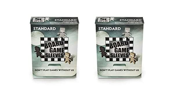 Arcane Tinmen Small Non-Glare Board Game Card Sleeves 100 Sleeves Total Bundle of 2 44mm x 68mm