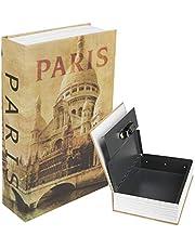 "Kyodoled Diversion Book Safe with Combination Lock, Safe Secret Hidden Metal Lock Box,Money Hiding Box,Collection Box,9.5"" x 6.2"" x 2 .2"""