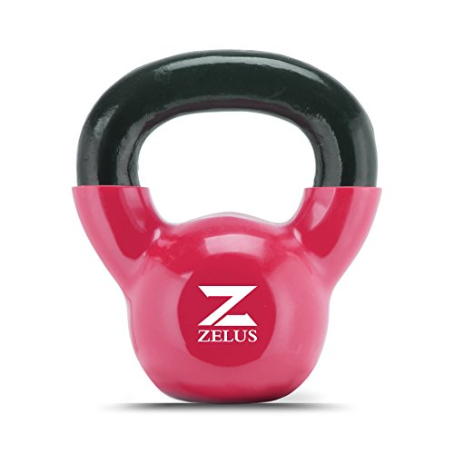 ZELUS-Cast-Iron-Vinyl-Coated-Kettlebell-for-WomenMen-Workout