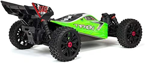 7C 2400mAh NiMH Battery /& Charger ARRMA 1//8 TYPHON Mega 4x4 RC Speed Buggy 4WD RTR with 2.4Ghz Spektrum Radio Green//Black ARA102694