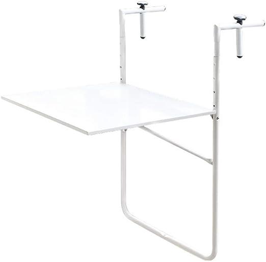 Xyanzi Mesa Plegable de Pared, Mesa para Colgar en la Cubierta, Mesa de jardín para terraza al Aire Libre y Mesa de Estudio para computadora portátil, Blanco, 60 * 53 cm: Amazon.es: Hogar