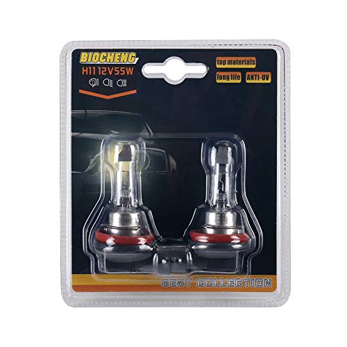 - H11 Halogen Headlight Bulb 12V 55W High Performance Replacement Bulb Long Life 16 Months Warranty 2 Pack