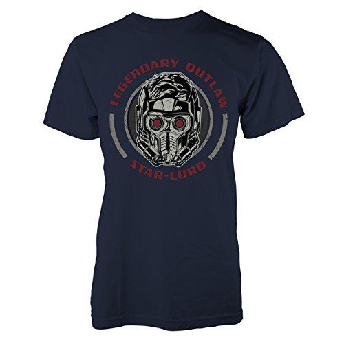 Guardians Of The Galaxy Herren T-Shirt Legendary Outlaw blau