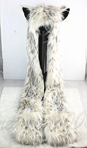 Leopard Hoodie Mittne Scarfs HatButik product image