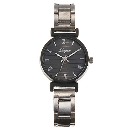 Women Easy Reader Date Expansion Watch Mitiy Ladies Quartz Clock Female Bracelet Quartz Wrist Watch (Fossil Athletic Watch)