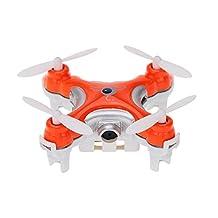 Nano Pocket Mini Drone with Camera Cheerson CX-10C CX10C Mini 2.4G 4CH 6 Axis RC Quadcopter RTF MODE2(Orange)