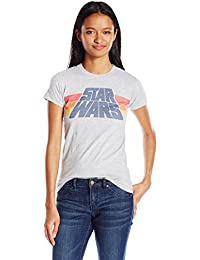 Juniors Slant Logo Stripe Graphic T-Shirt