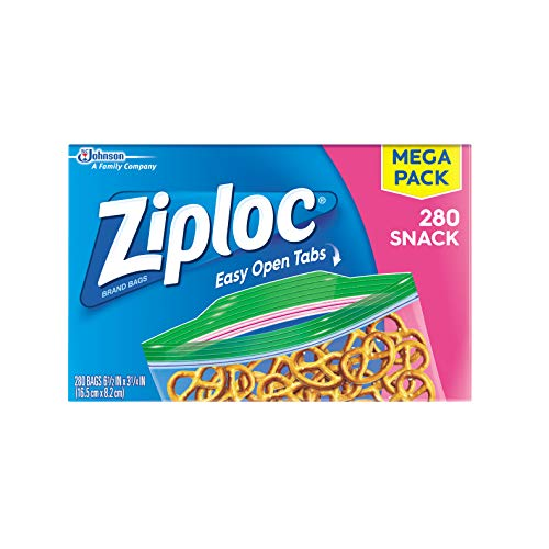 Ziploc Snack Bags, 280 ct Creek House 2 Piece