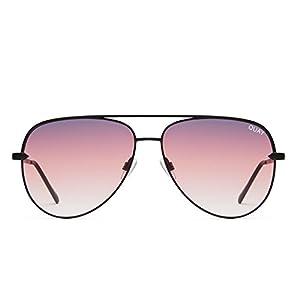 Quay Australia SAHARA Women's Sunglasses Oversized Aviator Sunnies - BLK/Purple
