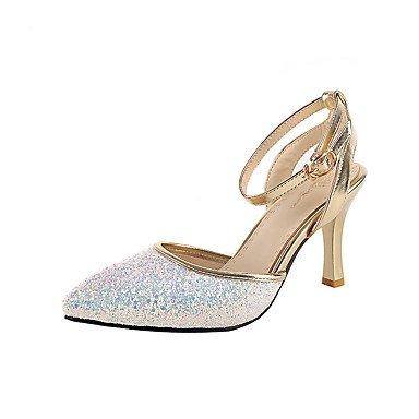 Zormey Women'S Shoes Shoes Heels Spring Summer Fall Winter Platform Comfortwedding Party &Amp; Evening Casual Stiletto Heel Imitation Pearlblack US5 / EU35 / UK3 / CN34