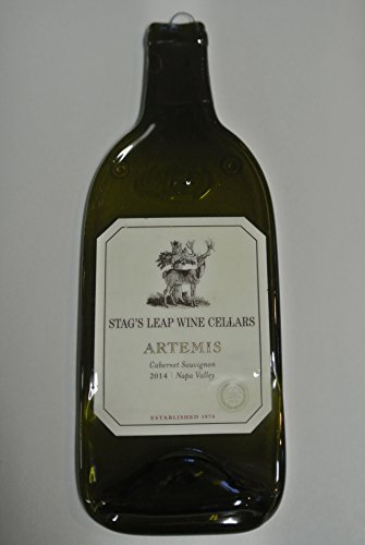 Stag's Leap Wine Cellars Cabernet Artemis Wine Melted Wine Bottle Cheese Serving Tray - Wine Gifts (Best Stags Leap Wine)