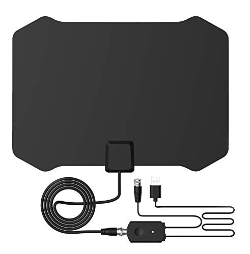Digital TV Antenna for Indoor - HDTV Antenna with Amplifier Signal Booster for 4K HD Local Channels with Coaxial Cable Ultra High Definition TVs,Amplified 120 Mile Range Ultra 4K TV Antennas
