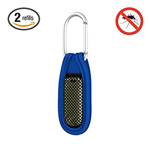 Hoont™ Natural Mosquito Repellent Clip + 2 Refills / Powerful & Robust Mosquito Bite Prevention Formula - 30 Days Protection! (Blue)