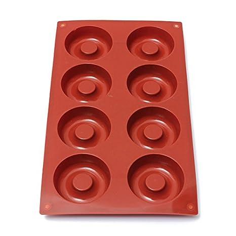 Amazon.com: [Free Shipping] DIY Silicone Donuts Mold Cake Chocolate Cookies Baking Mould // Donas silicona diy pastel de molde para hornear galletas de ...