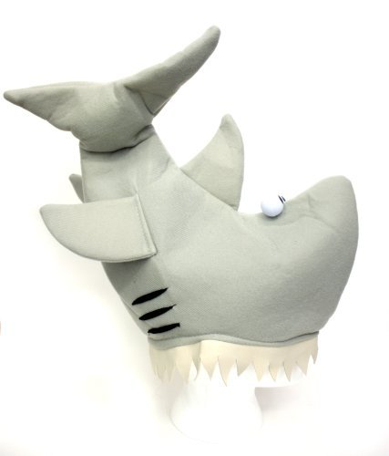 Jacobson Hat Company Grey Shark Hat, Grey, (Womens Party Animal Costume)