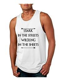 Allntrends Men's Tank Top Stark In The Streets Wildling In The Sheets